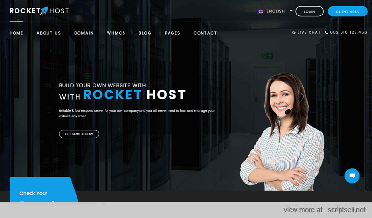 25+ Best Free & Premium Hosting WordPress Themes With WHMCS Integration