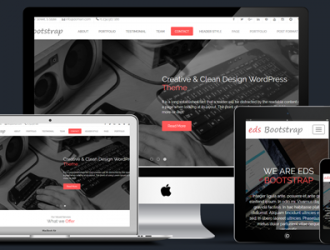 eds Bootstrap One Page Parallax WordPress Theme ( edsbootstrap pro )