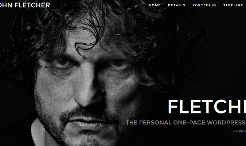 Fletcher - vCard CV Resume WordPress Theme