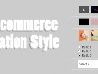 Woo Variations Style Buttons ( WooCommerce 3 +)