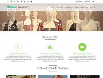 SornaCommerce Multi-purpose WooCommerce WordPress Theme (free)