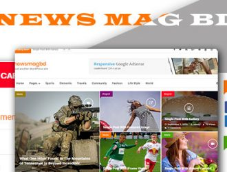 NewsMagbd magazine, blog and content publishers WordPress Theme