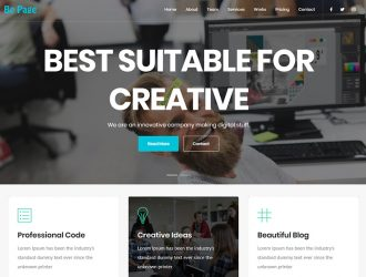Be Page ( Free ) One Page Parallax & Multipurpose WordPress Theme