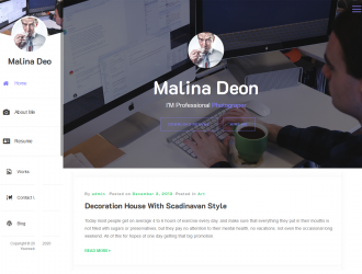 Online CV Resume WordPress theme