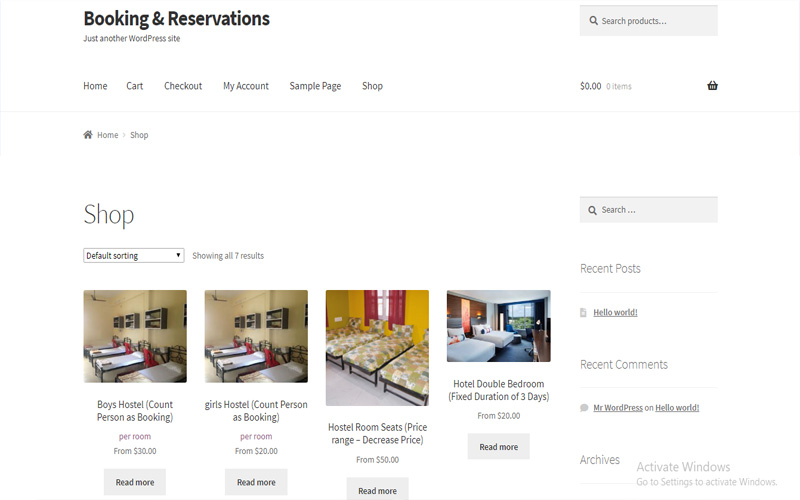 Booking & Reservation