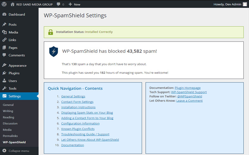 WP-SpamShield