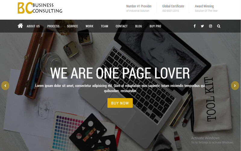 Preview screenshots of BC Business Consulting Multipurpose WooCommerce WordPress Theme