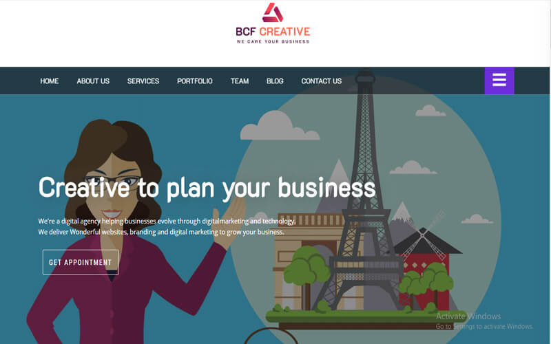 Preview screenshots of Business Consultant Finder (BCF) Multipurpose WooCommerce Theme