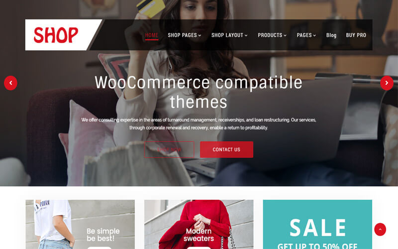 Preview screenshots of CorporateSource (PRO) Minimal Multipurpose WooCommerce WordPress Theme