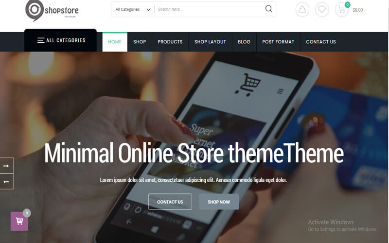 Preview screenshots of ShopStore Multipurpose WooCommerce WordPress Theme