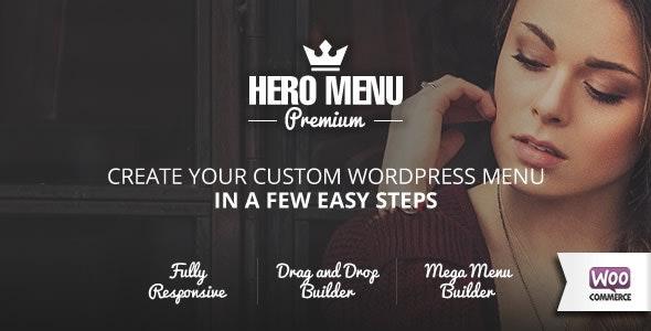 Preview screenshots of Hero Menu