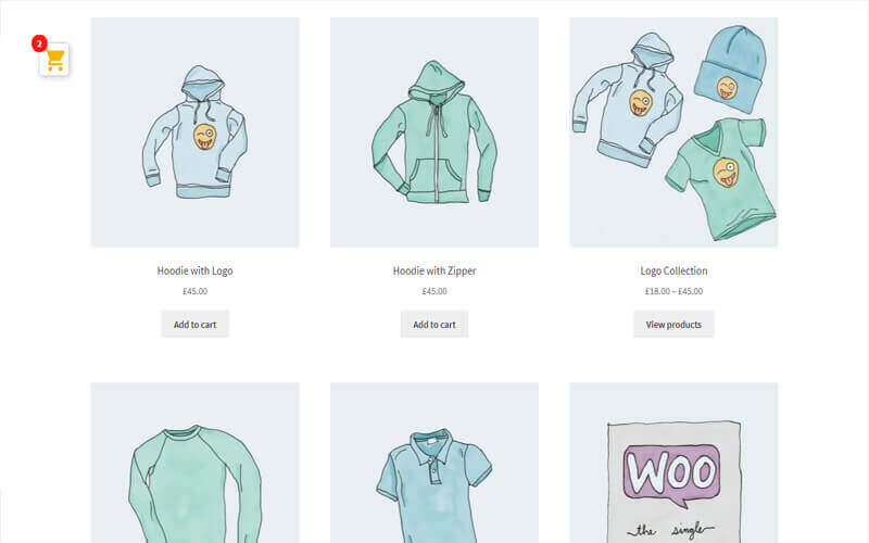 Preview screenshots of WooCommerce Added to Cart Popup