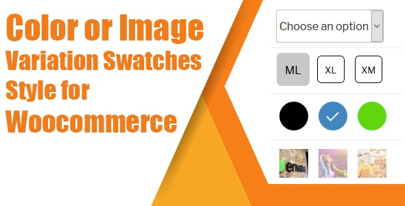 Preview screenshots of WooCommerce Variation Swatches(Color, Image or Button)