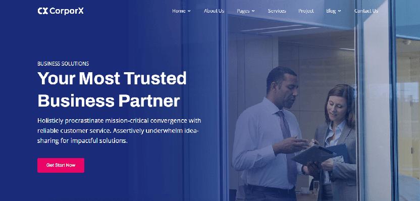 CorporX - Startup Website Template