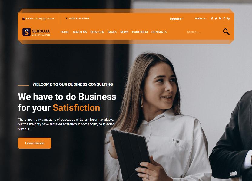 Serouja - Business HTML Template