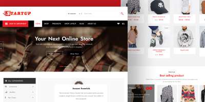 We're pleased to announce our new theme ( StartupShop )