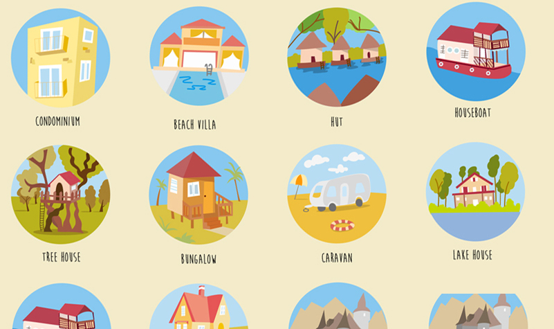 Freebie: Houses & Buildings Icons