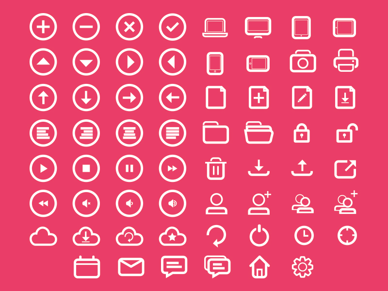 Rounded Icon Set (SVG)